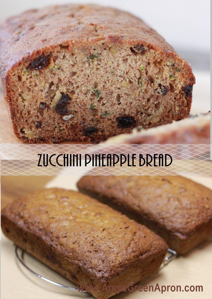 Zucchini Pineapple Bread | Amy's Green Apron