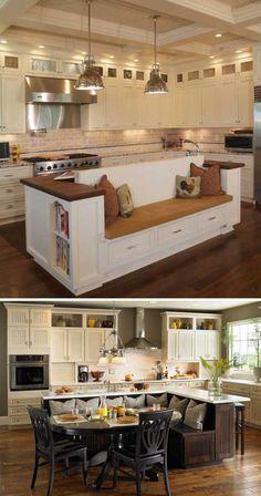 Eingebaute Bänke in fast jedem Zuhause
