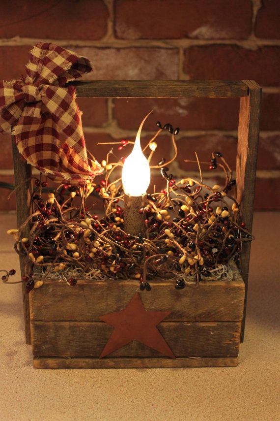 Small Tobacco lath primitive basket light by PotpourriandLighting