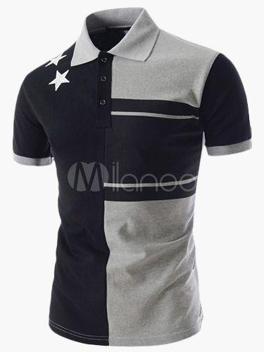 a9062fbe1a13c Camisa de Polo de manga corta de algodón guapo para hombres en 2019 ...