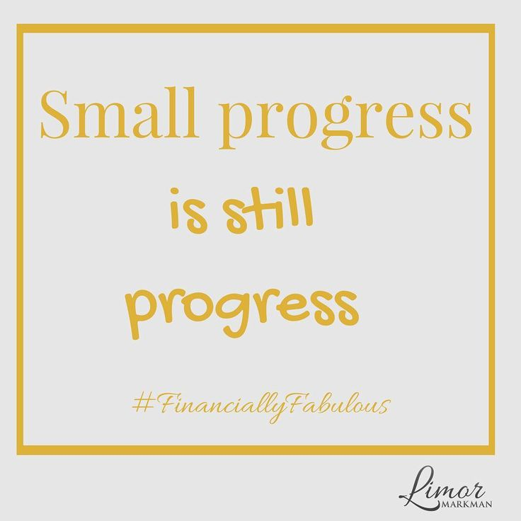 Sometimes the journey feels long and the small steps you take can be insignificant. But small progress is still progress.