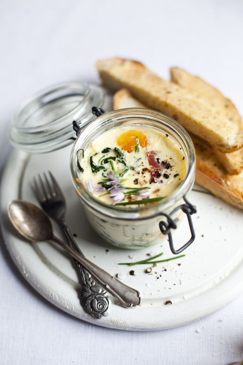 Baked Eggs with Spinach and Ham | DonalSkehan.com, Brilliant weekend breakfast.