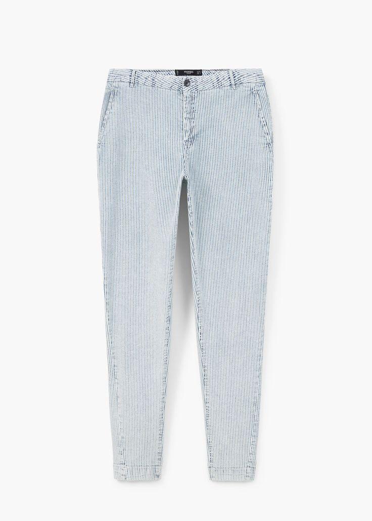 Gestreepte broek - Broeken voor Dames | MANGO Nederland