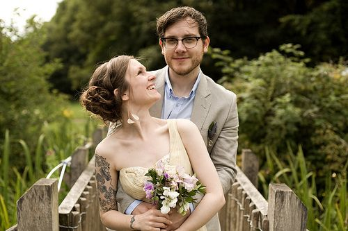 A link to a blog entry about an adorable and beautiful vegan Buddhist wedding!