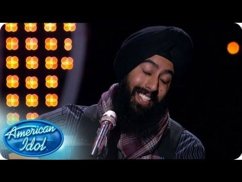 """Toting his guitar, Gurpreet Singh Sarin performed a rendition of Ray Charles' """"Georgia On My Mind"""" for the judges. Also, coming off a performance that was deemed lackluster by judge Nicki Minaj the night before, Cortez Shaw swings for the fences with his version of Bobby Hebb's """"Sunny"""". #idol #hollywoodweek #turbanator"""