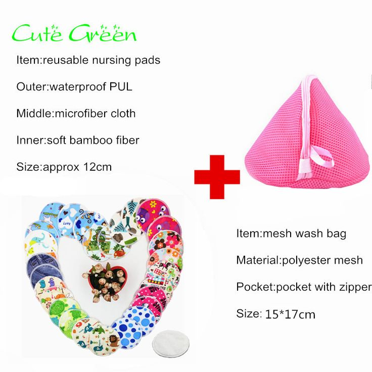 10pcs reusable nursing pad+1pc wash bag;mum breastfeeding washable breast pad waterproof PUL high absorbent bamboo pad nursing
