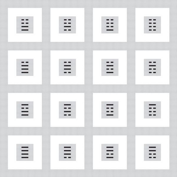Géomancie, les 16 Tétragrammes, Alpha-bet