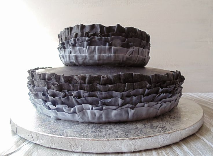 Horno obsesión: Pastel con volantes (Ruffle cake)