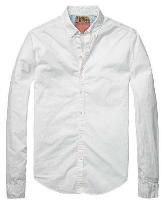 Classic slim fit shirt | Shirt l/s | Men Clothing at Scotch & Soda