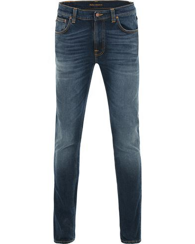 Nudie Jeans Lean Dean Organic Slim Fit Stretch Jeans Ink Navy i gruppen Design B / Kläder / Jeans / Avsmalnande jeans hos Care of Carl (13804711r)