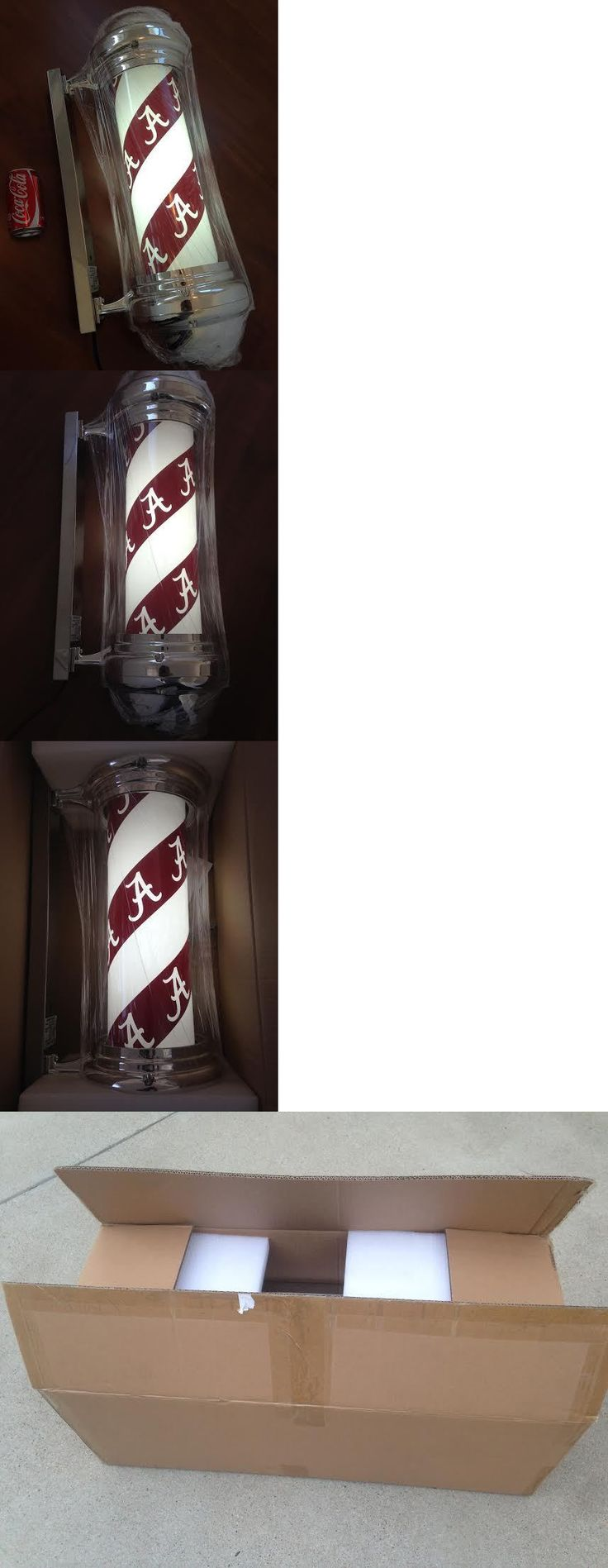 Barber shop pole distressed wall decal vintage style wall decor ebay - Other Salon And Spa Equipment Alabama Football Crimson Tide Ncaa Barber Pole Bar Mancave Neon