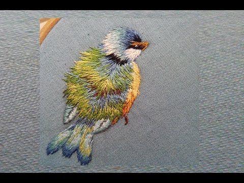 Embroidered bird - Trish Burr | part one - YouTube
