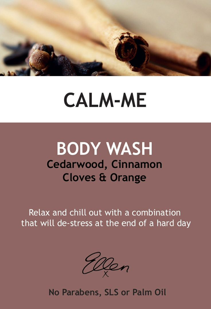 Our new essential oil body wash