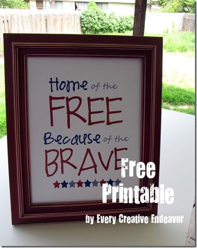 4th of July Decor printable: Fourth, Holiday Ideas, Craft, 4Th Printable, Decor Printable, 4Th Of July, July 4Th, July Ideas, July Decor
