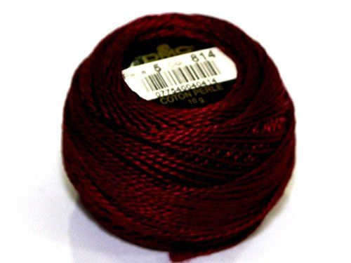 DMC Coton Perle - Taille 5 filetage 814 - par 10 g Boule + sans Minerva Crafts Craft Guide