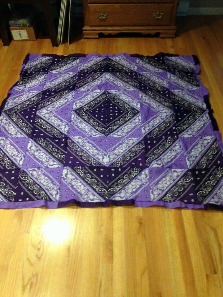 Bandana Quilt Quilts Pinterest Quilt Blue And Navy Blue