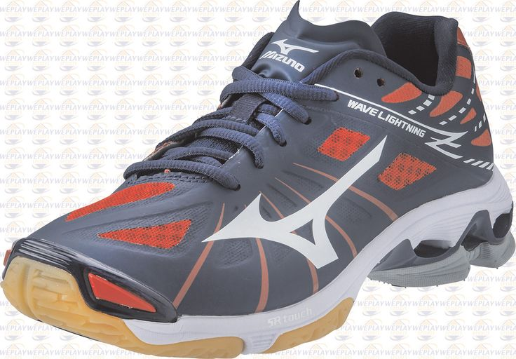 Mizuno Wave Lightning Z Womens Volleyball Shoes - Navy Blue/Red