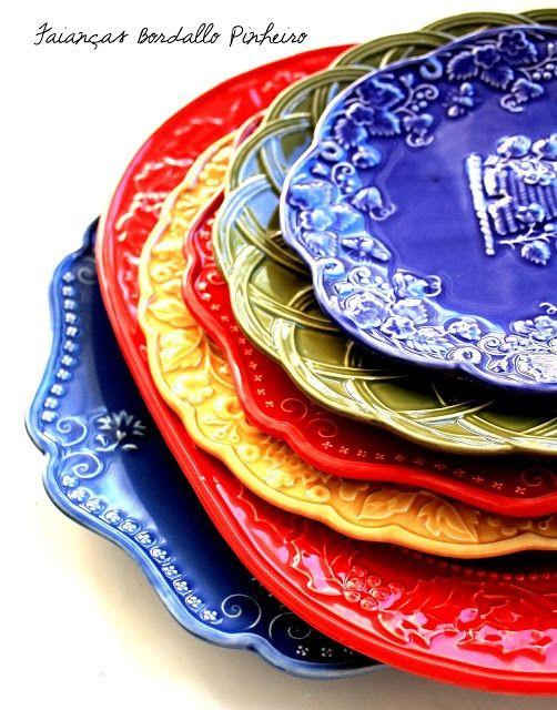love these, so colorful and deliciously designed....  Rafaelo Bordalo Pinheiro - Portugal