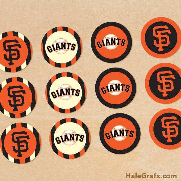 Sf giants cupcake toppers free printable san francisco giants cupcake toppers