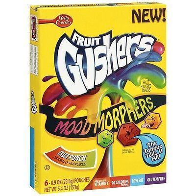 Betty Crocker Fruit Gushers Mood Morphers Pack 6 Count Box