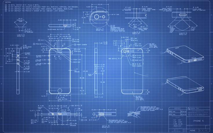 iPhone 4 Blueprint - 2560x1600 by Regivic Blueprint Pinterest - new blueprint software ios