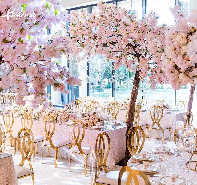 A Stunning Cherry Blossom Wedding By Bianca Events Violetstudiodubai Cherry Blossom Wedding Decor Cherry Blossom Wedding Cherry Blossom Wedding Theme