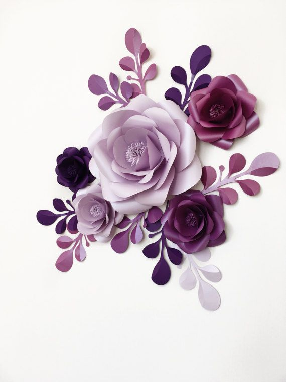 Party Paper Flowers  Mini Backdrop  Party Decoration by MioGallery