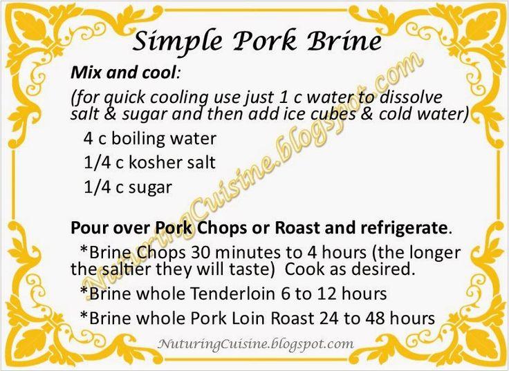 Simple Pork Brine Recipe