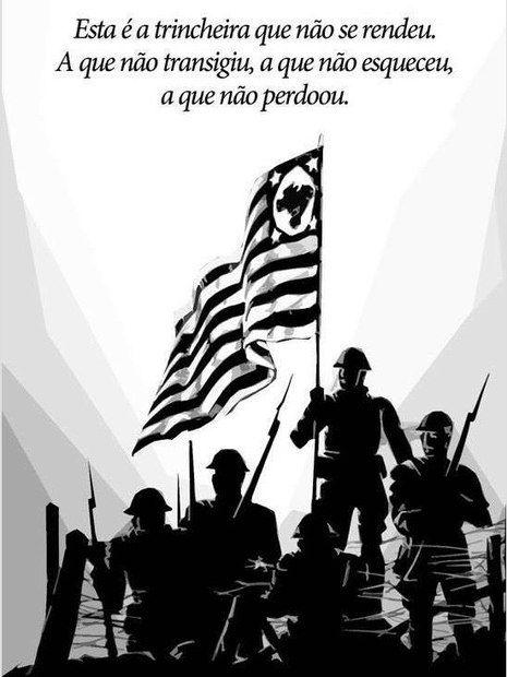 Essa simples imagem possui valor inestimável, pois representa valores que a grande maioria já se esqueceu! Um dia o Estado de São Paulo pegou em armas para defender o Brasil. Perdemos a guerra, mas não nos vendemos!