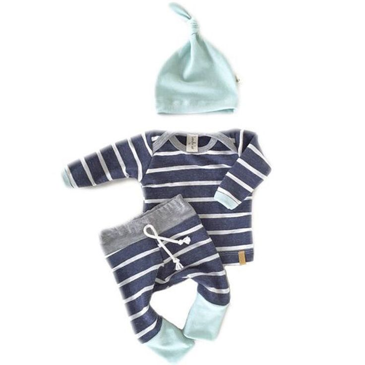 - Baby Boy - 3 Piece Outfit - Hat - Long Sleeve Shirt - Pants Free Shipping! Please Allow 2-4 weeks for delivery.