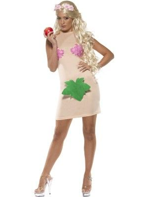 Costume Eva, prima donna, TG. M. Costume intero e cerchietto con fiori. Disponibile da C&C Creations Store