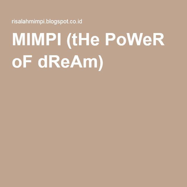 MIMPI (tHe PoWeR oF dReAm)