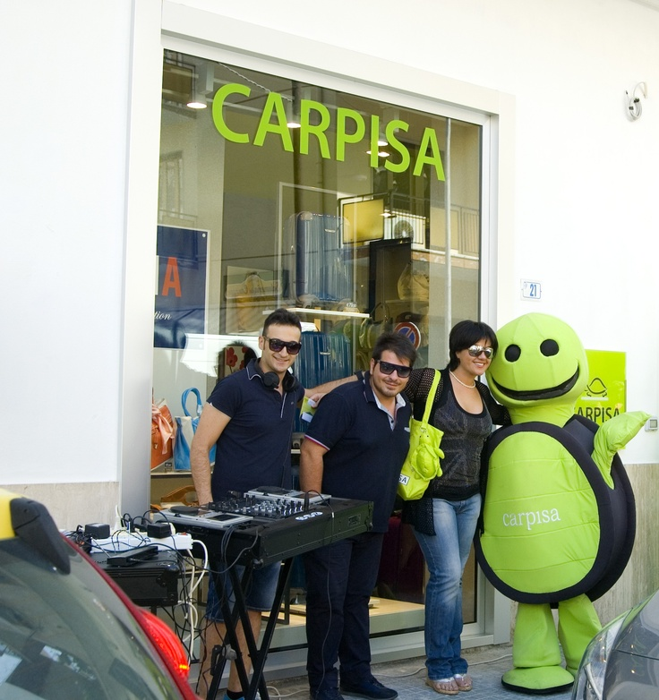Opening of the new store Carpisa Paola CS - Calabria / Italy. Event organized by carmelomeo for the advertising agency Promomax.