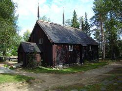 Sodankylän vanha kirkko loppukesällä 2007.