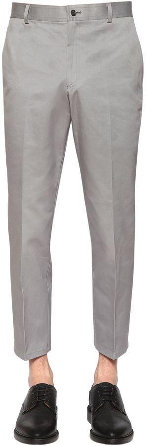 Skinny Cotton Chino Twill Pants