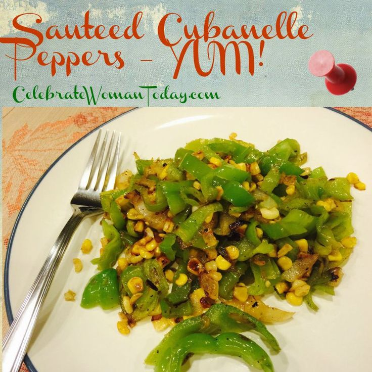 Sauteed Cubanelle Peppers