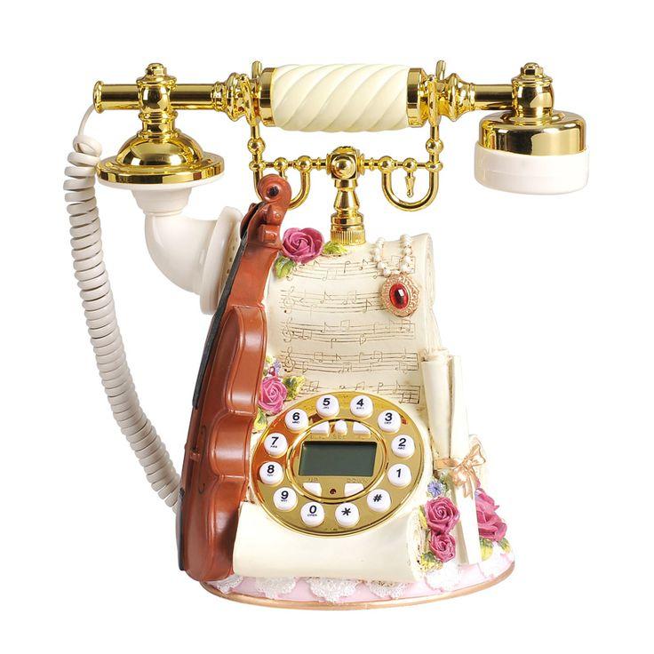 Calidad teléfono antiguo teléfono vintage teléfono moda teléfono violín identificador de llamadas de teléfono en Teléfonos de Teléfonos y Telecomunicaciones en AliExpress.com | Alibaba Group