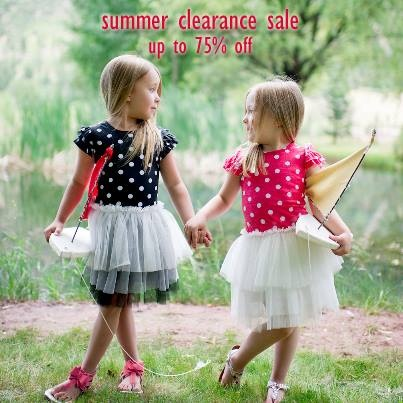 Summer Sale - up to 75% off items. Shop now while items are available. #stellaindustries #girlsfashion #girlsdresses #childrensfashion #childrensclothing #summerdeals #summerkids