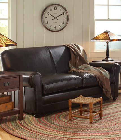 L.L.Beanu0027s Leather Lodge Sofa