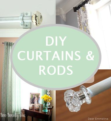 DIY Curtains and Curtain rods. I need these for my new craft room/Office space!