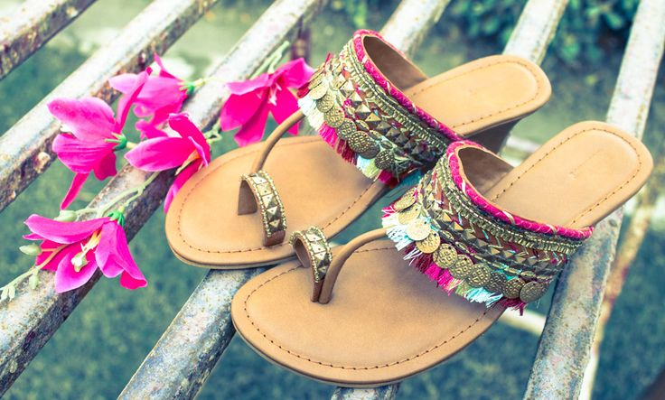 Buy Move in Color by Crave Connect Handmade leather flats and wedges Online at Jaypore.com