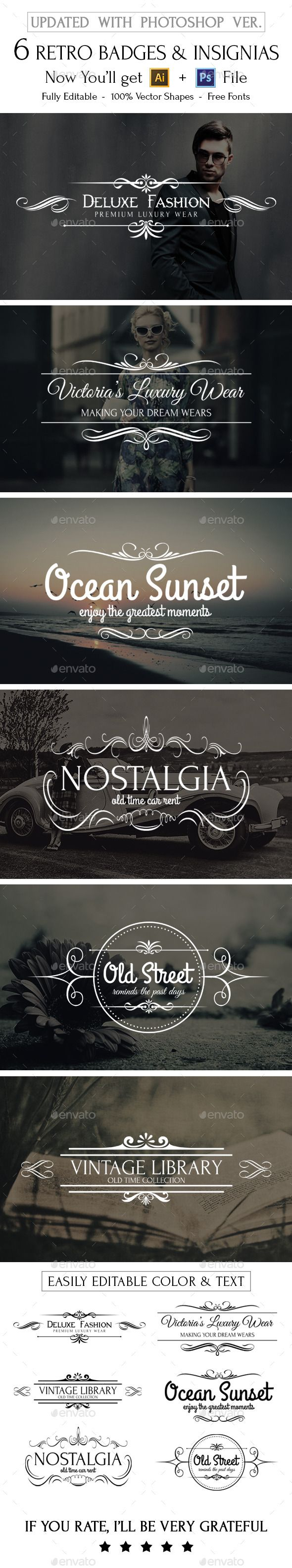 best ideas about retro logos hipster logo 6 retro logos and insignias