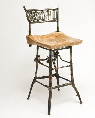 Found furniture seats made from bike parts bar seating for Found furniture