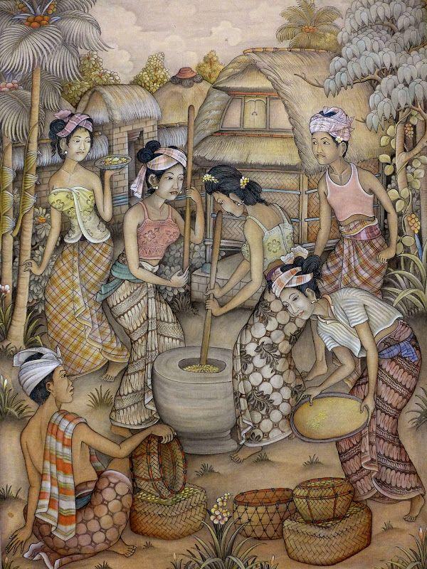 I Dewa Putu Sugi - Pounding Rice