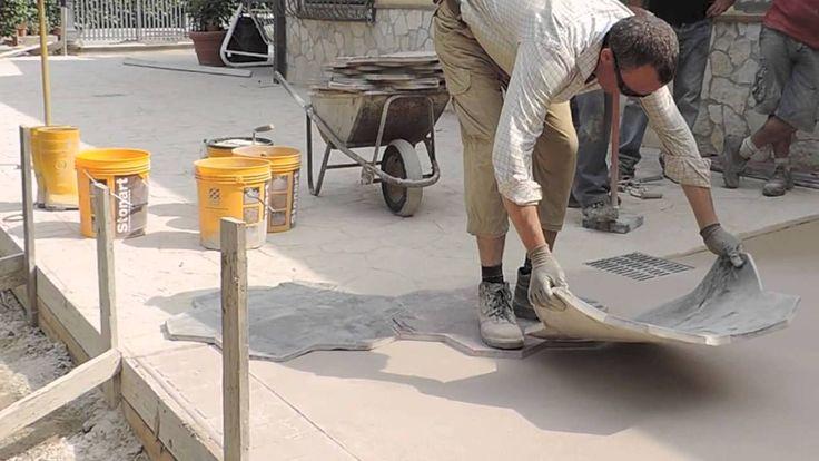 Video Pavimentazione in Calcestruzzo Stampato
