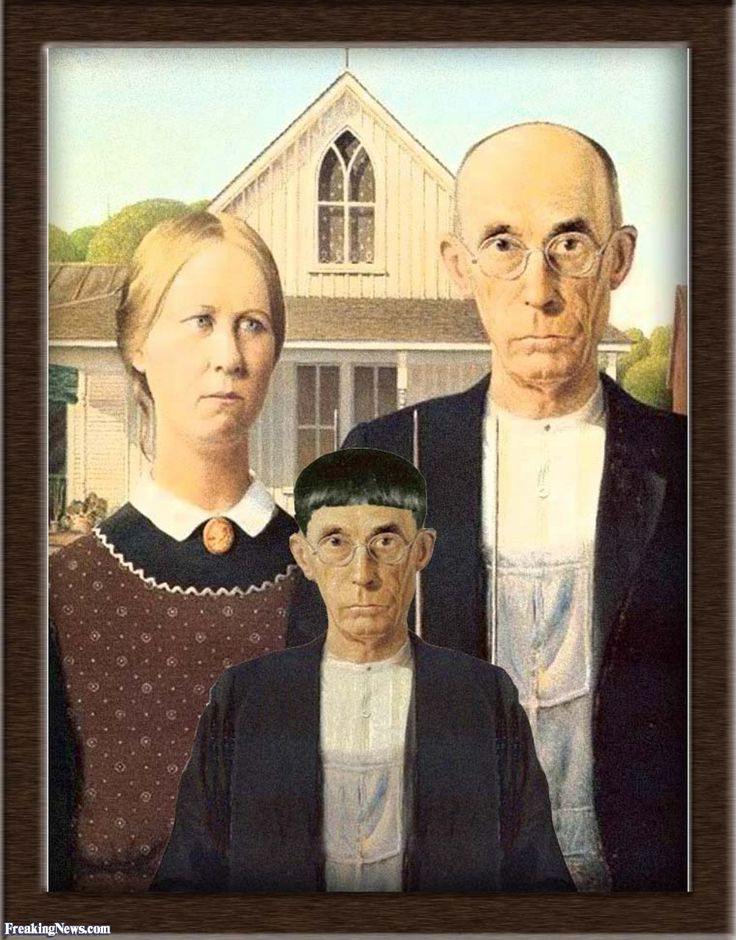 American Gothic With Son ParodyGrant WoodSonsGuysChildren