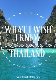Wichtige Dinge, die ich vor meiner Reise nach Thailand gerne gewusst hätte! #Thailand #Asien #Reise   – travel