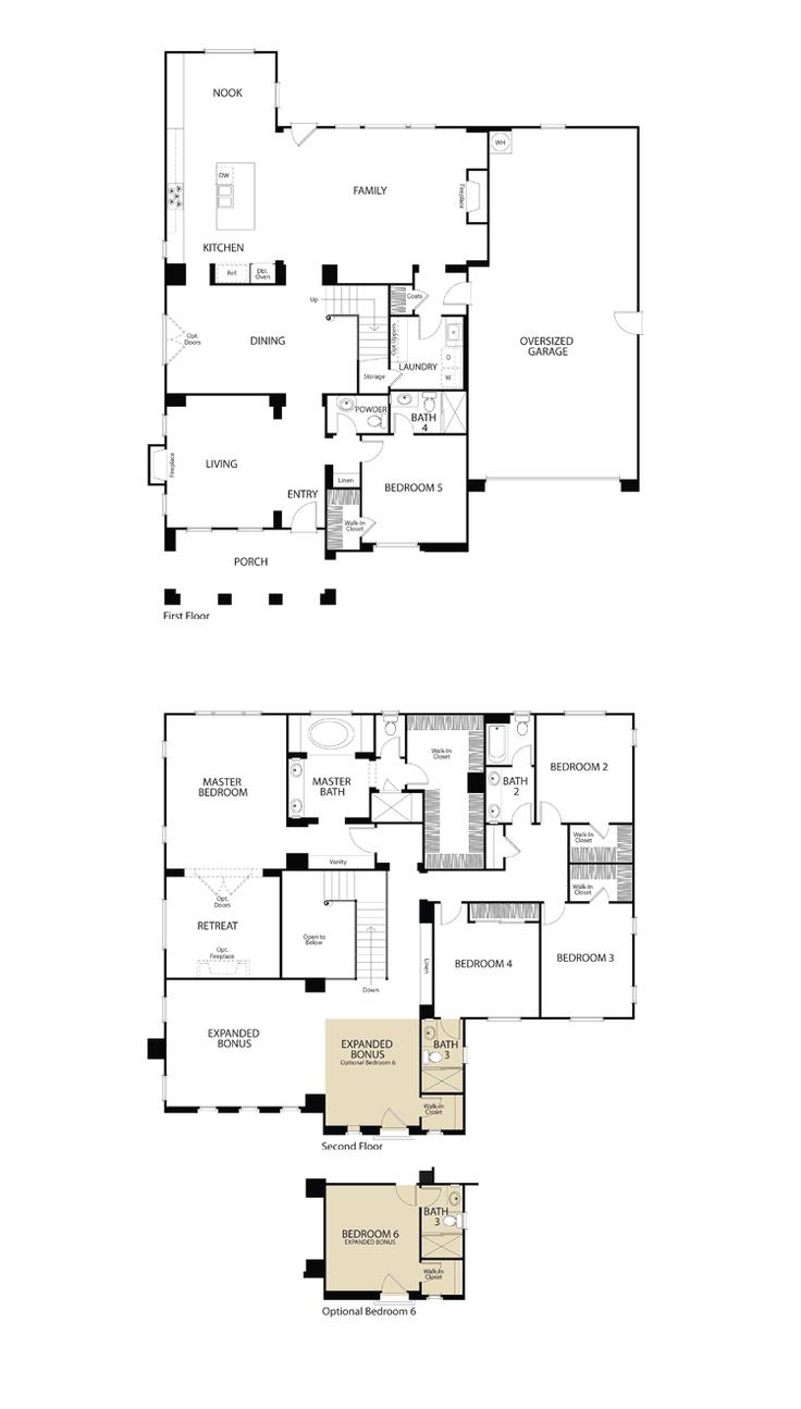 San Diego 2 Bedroom Suites 17 Best Images About Floorplans We Love On Pinterest 3 Car