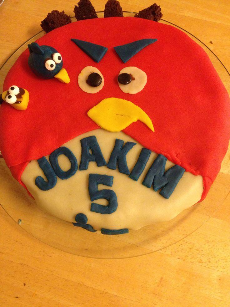 Angry birds kake - Joakim 5 år