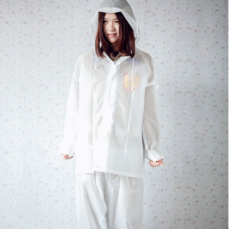 >> Click to Buy << Transparent Hooded Rain Coat Clear Raincoat Women Rainsuit Regenpak Chuva Dames Poncho Impermeable Raincoat Women DDG466 #Affiliate